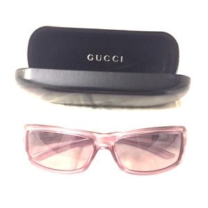 Like New Pink Authentic Gucci Sunglasses